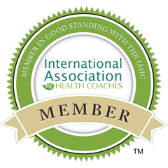 International Association of Health Coaches badge, member in good standing